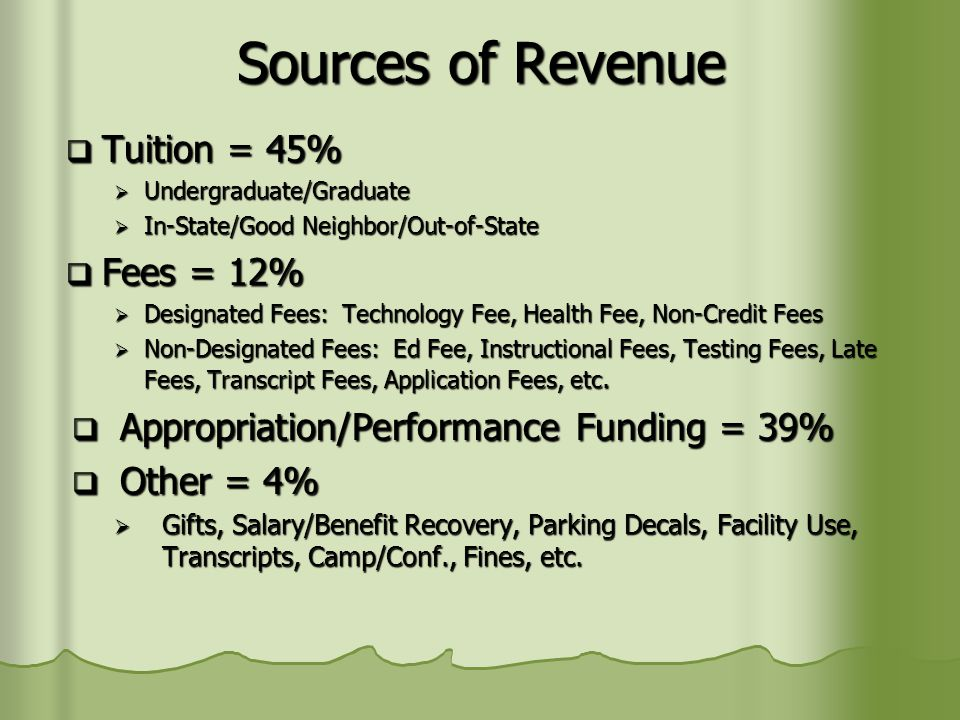 Today's Presentation How do we project tuition revenue.