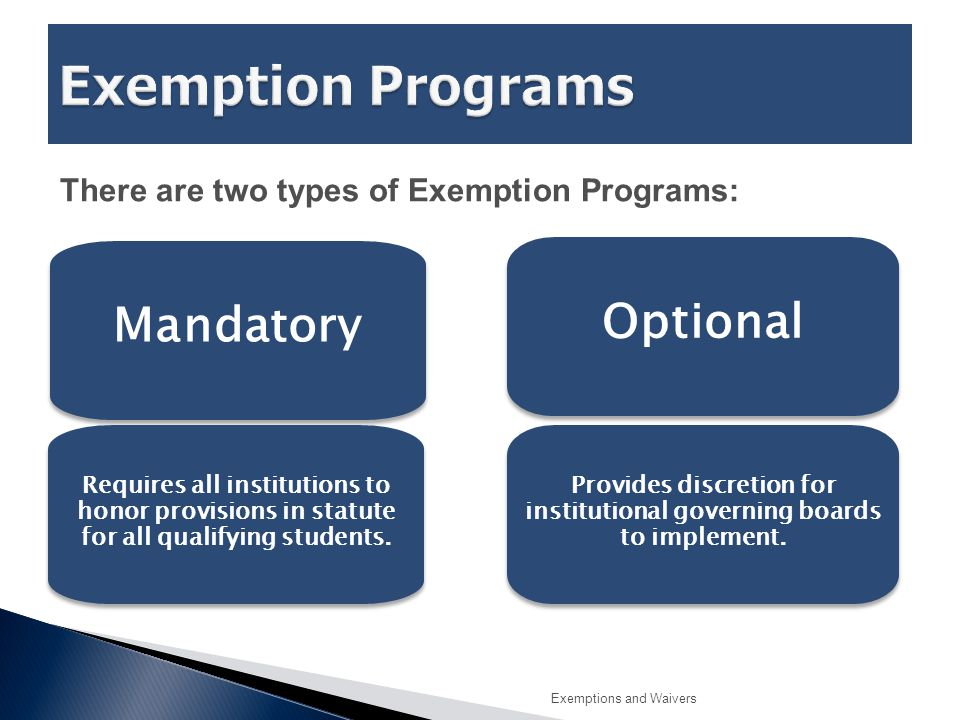  Institutions identify the documentation needed to support a student's claim of eligibility.