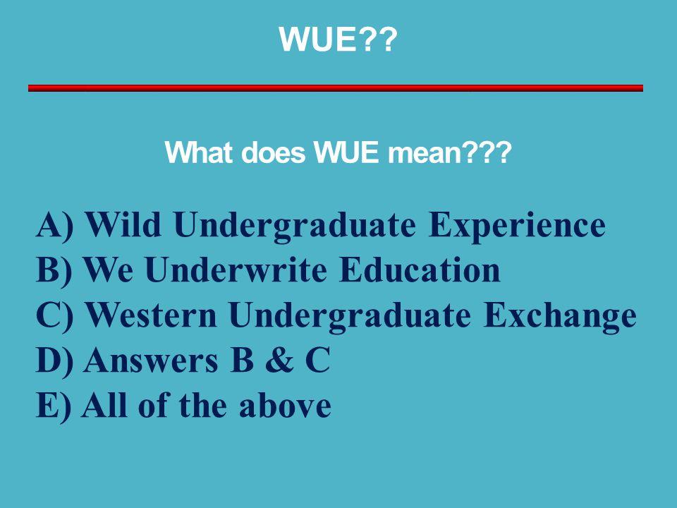 WUE .