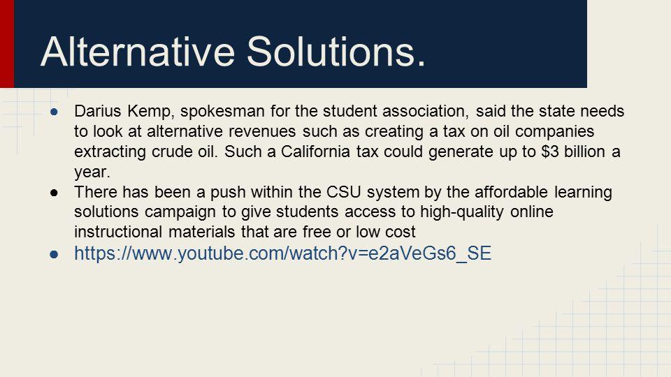 Alternative Solutions.