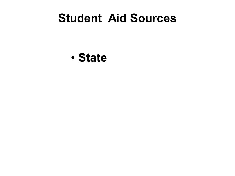 Student Aid Sources State