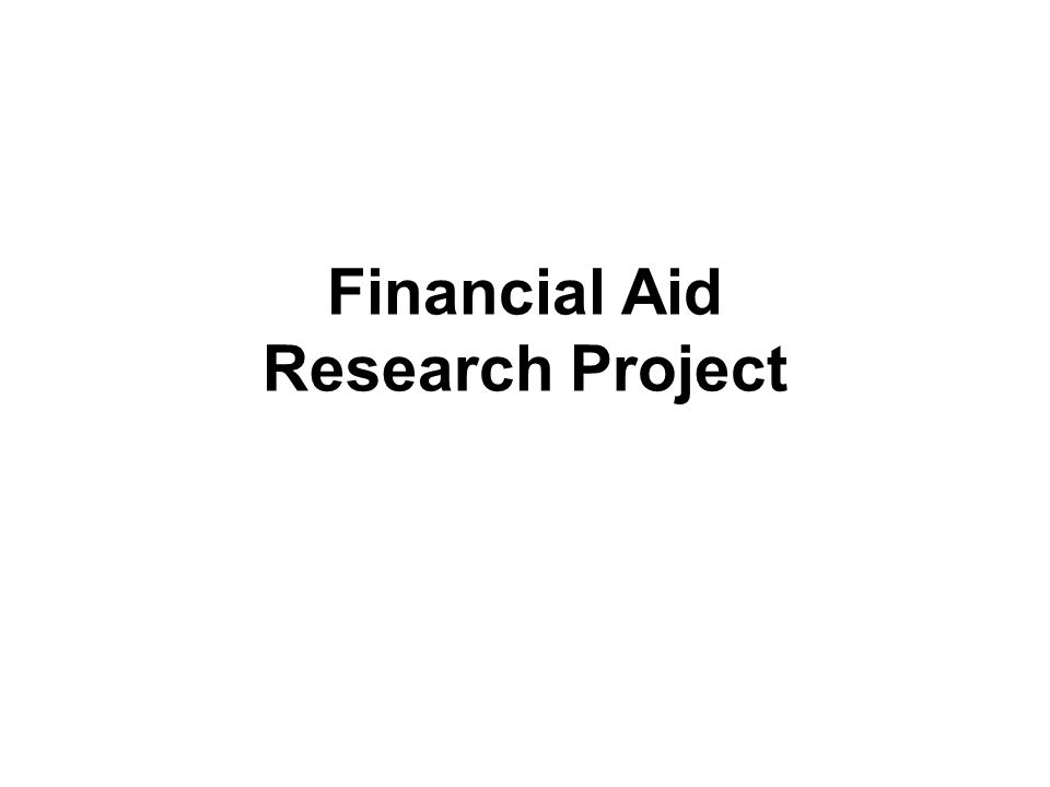 Financial Aid Research Project
