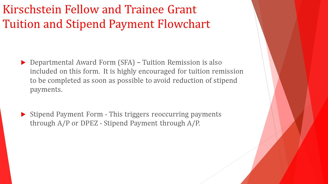  Departmental Award Form (SFA) – Tuition Remission is also included on this form.