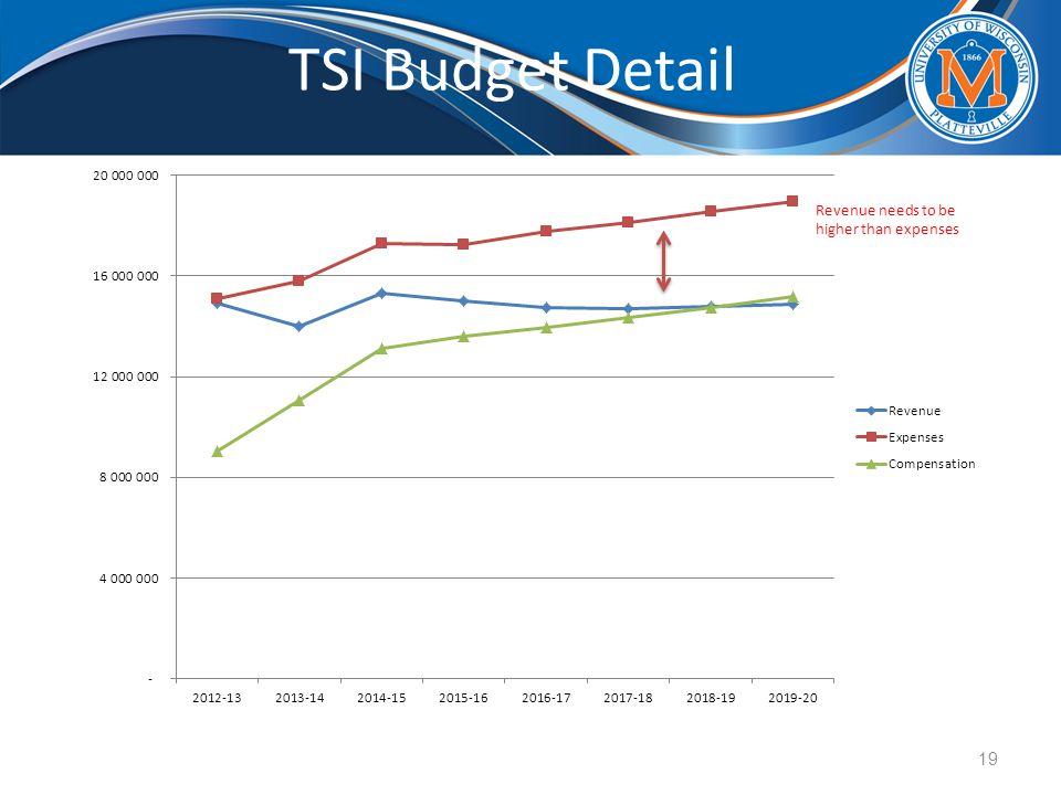 TSI Budget Detail 19