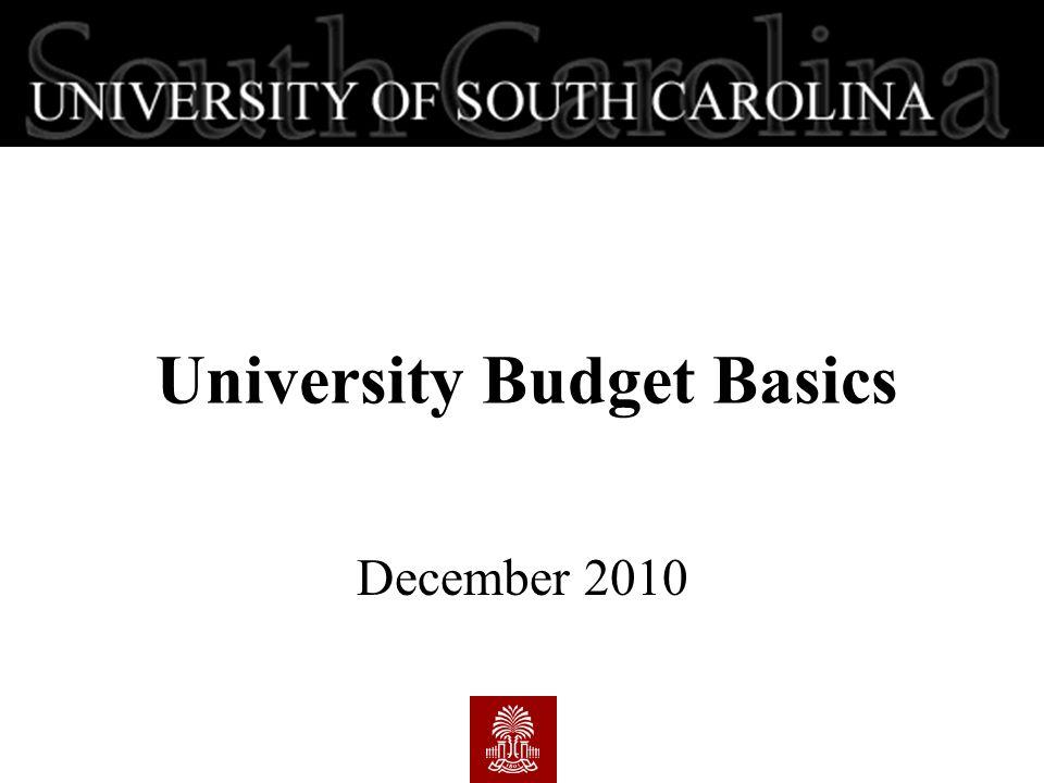 University Budget Basics December 2010