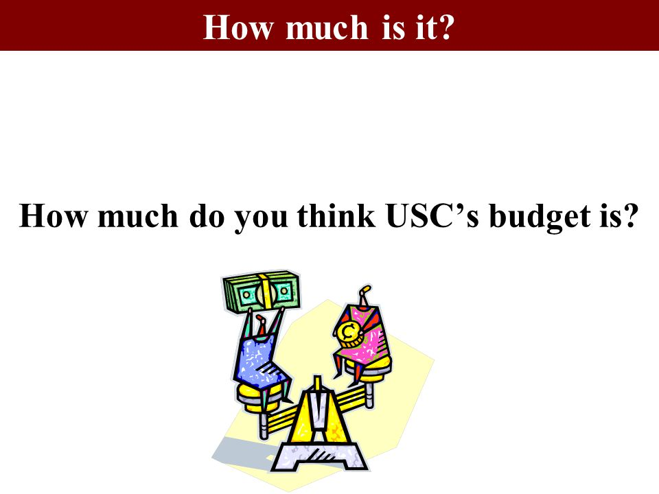 How much do you think USC's budget is? How much is it?