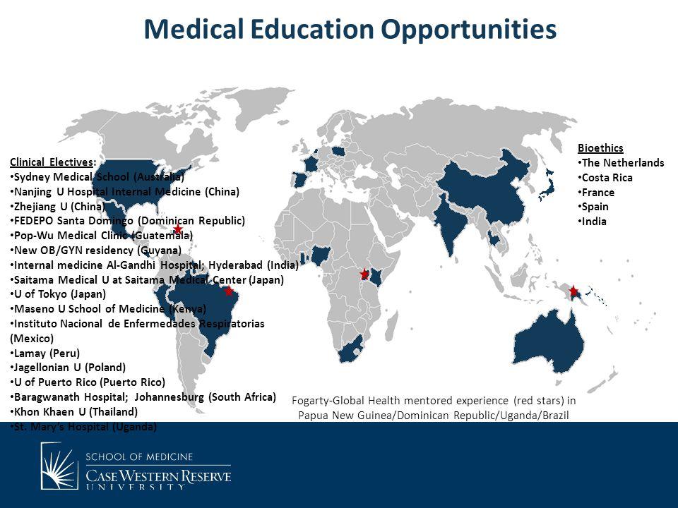 Medical Education Opportunities Clinical Electives: Sydney Medical School (Australia) Nanjing U Hospital Internal Medicine (China) Zhejiang U (China)