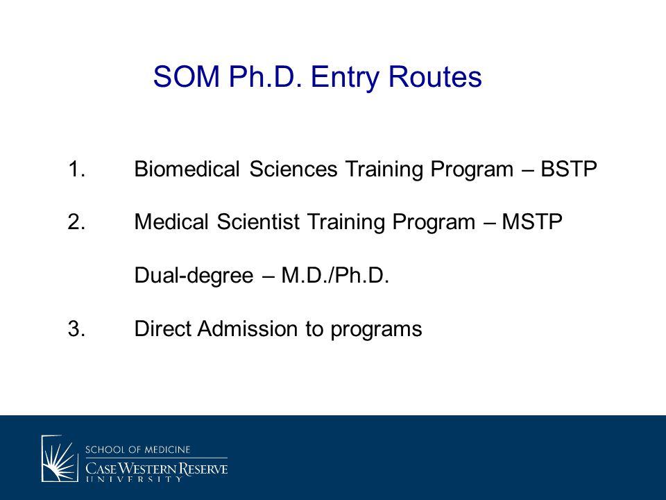 1.Biomedical Sciences Training Program – BSTP 2.Medical Scientist Training Program – MSTP Dual-degree – M.D./Ph.D.