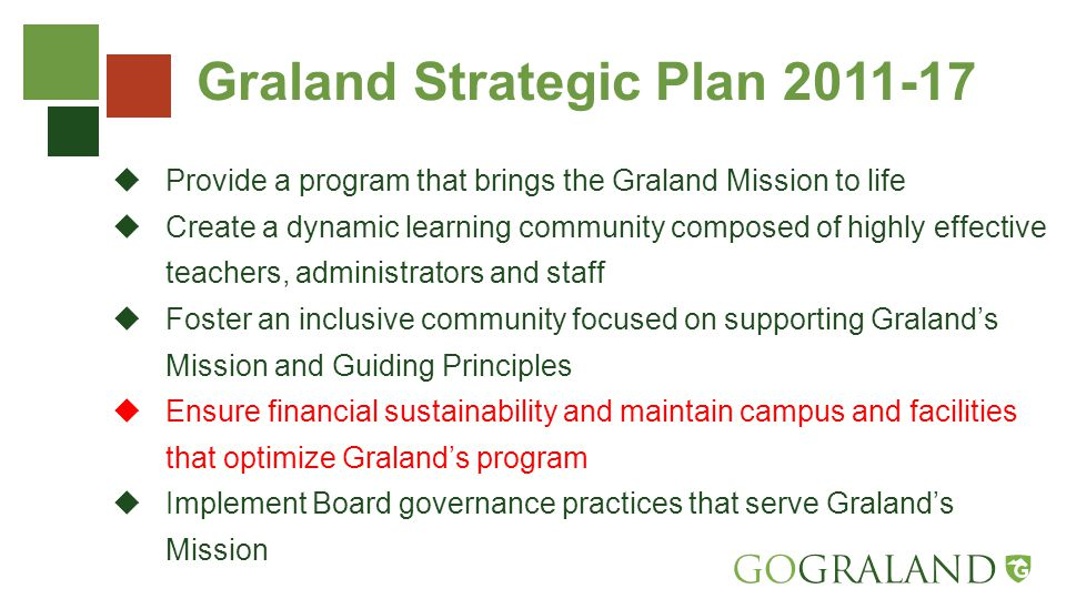 Graland Compensation Philosophy Graland Country Day School commits to attracting, retaining and rewarding high- performing employees – those that demonstrate the qualities of innovation, collaboration, professionalism, leadership and actively contribute to further the mission of the School.