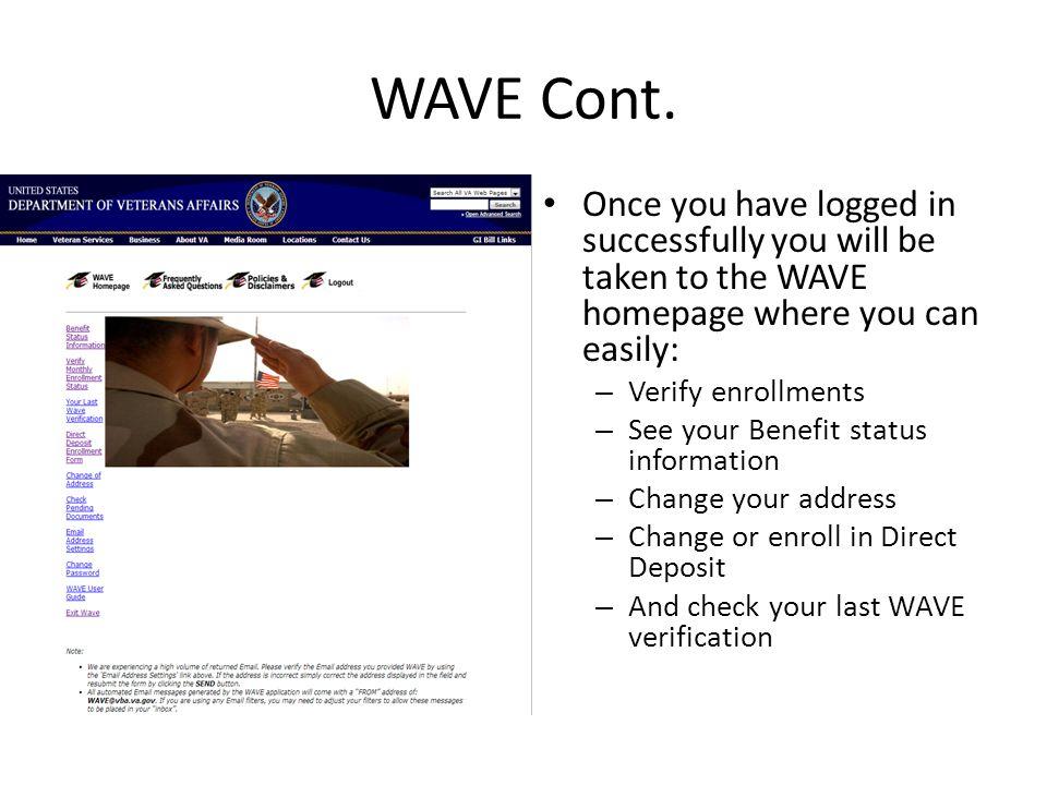 WAVE Cont.