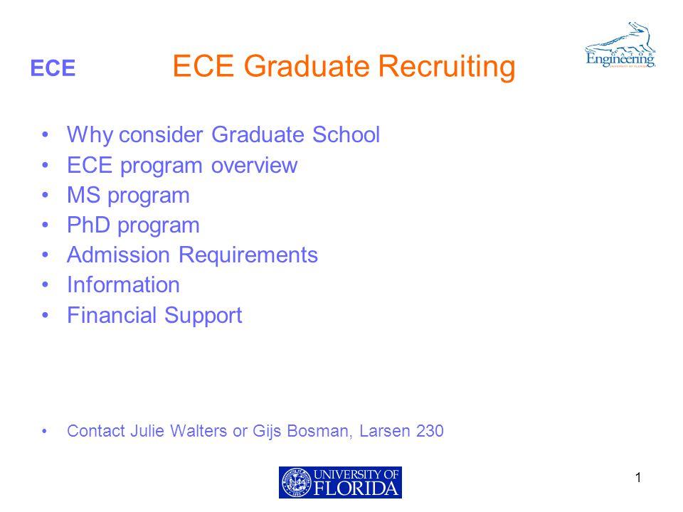 ECE Admission Requirements I.