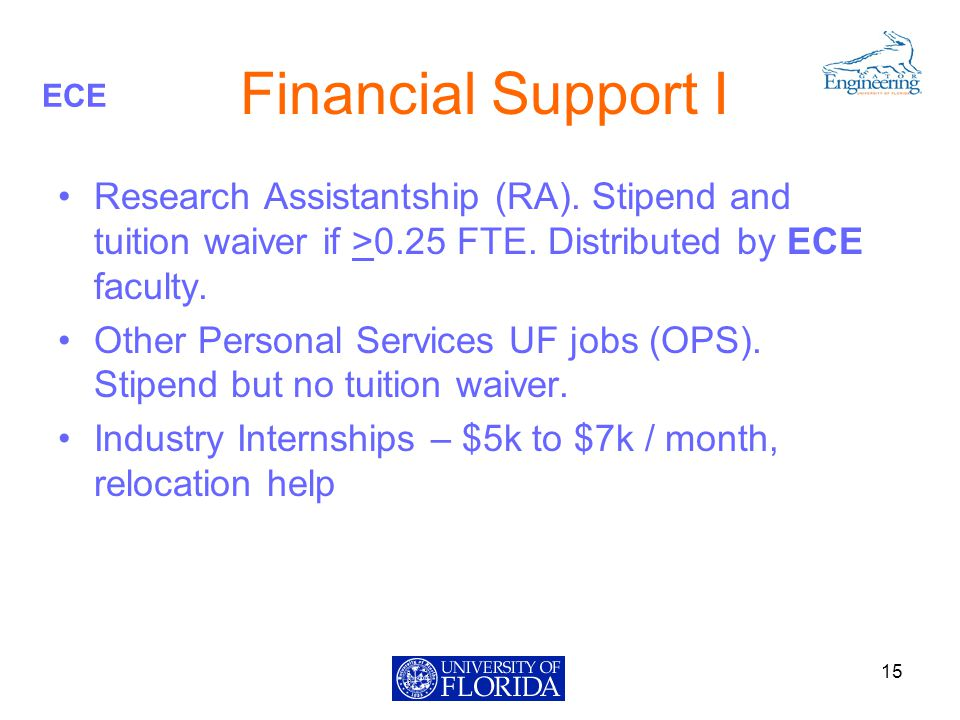 ECE Financial Support I Research Assistantship (RA).