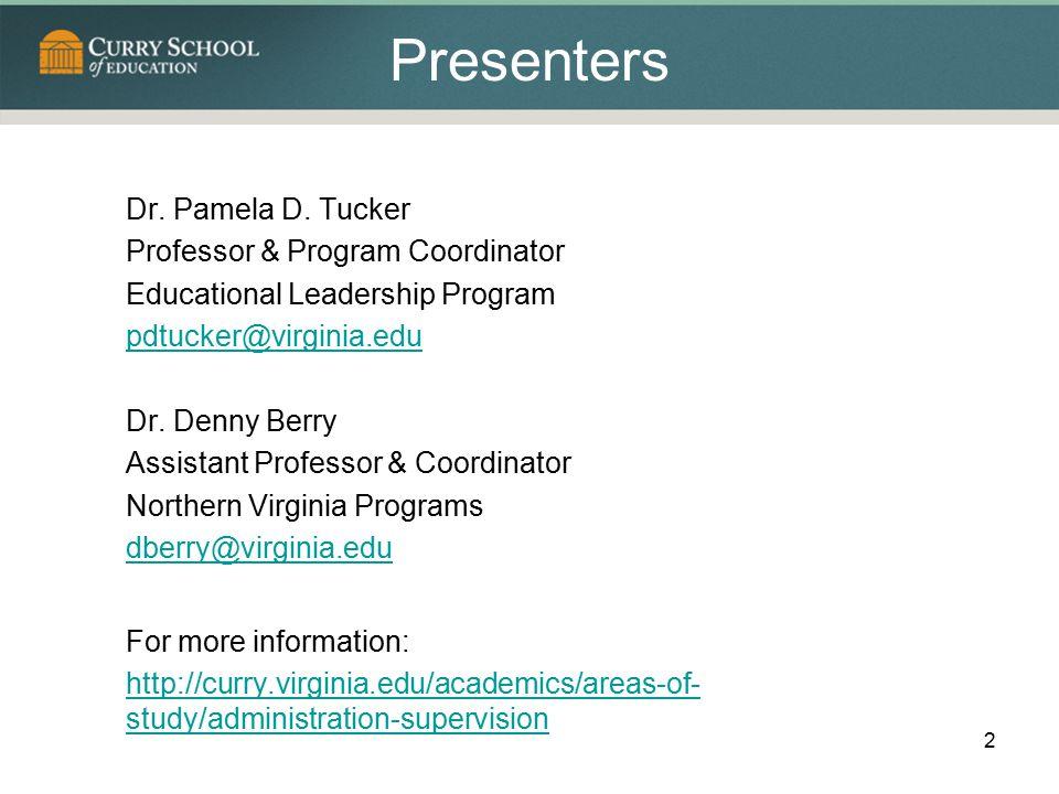 Presenters Dr.Pamela D.