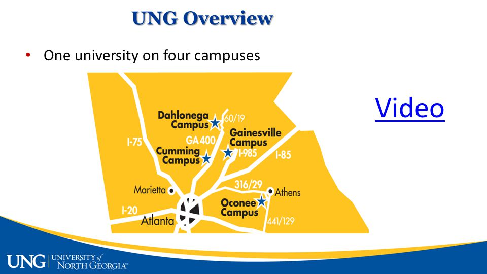 Video One university on four campuses UNG Overview