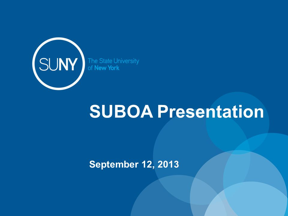 SUBOA Presentation September 12, 2013
