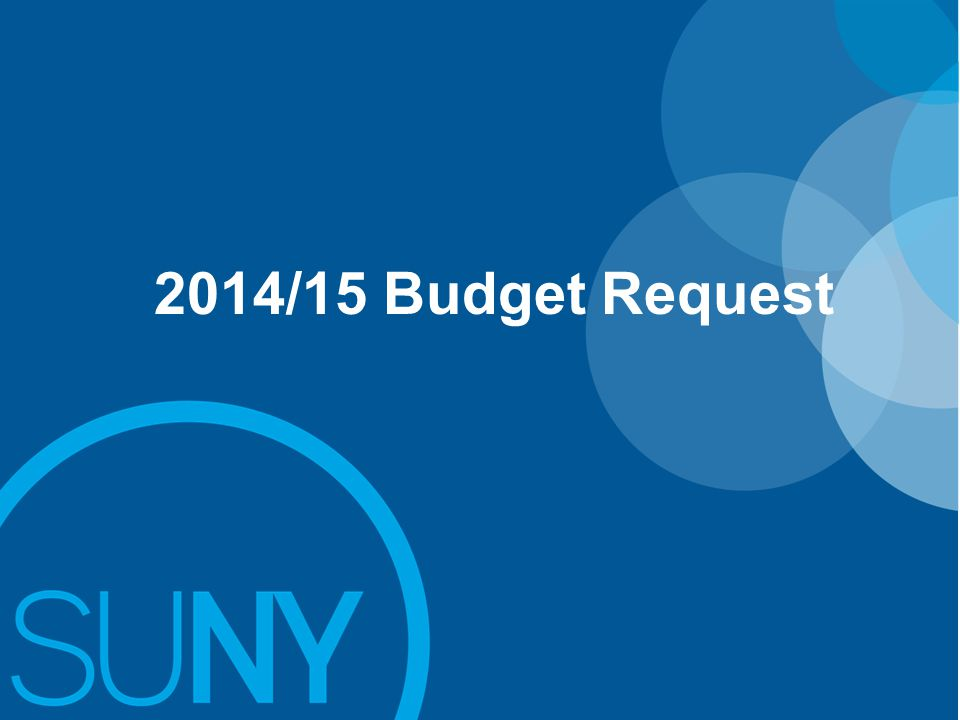 2014/15 Budget Request: Background
