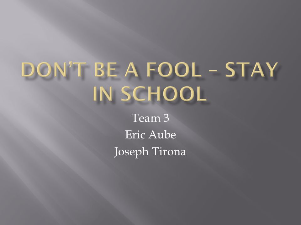 Team 3 Eric Aube Joseph Tirona
