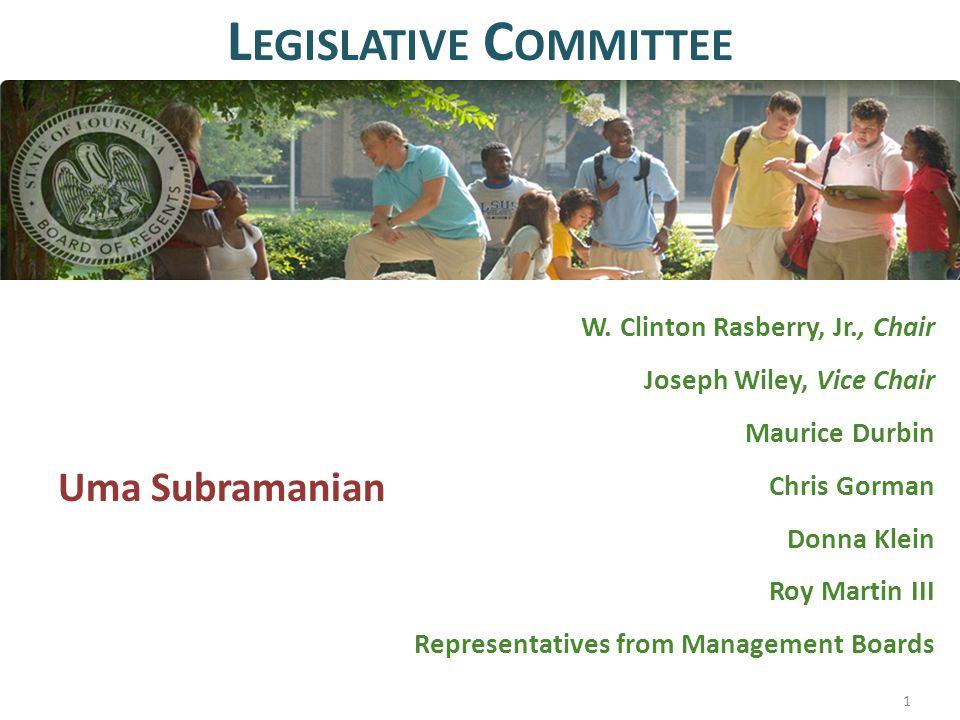 W. Clinton Rasberry, Jr., Chair Joseph Wiley, Vice Chair Maurice Durbin Chris Gorman Donna Klein Roy Martin III Representatives from Management Boards