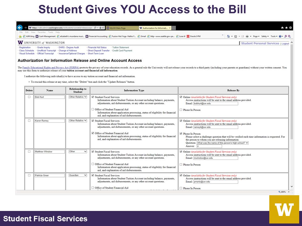 Student Fiscal Services MAT 213 129 Schmitz Hall Which Office.