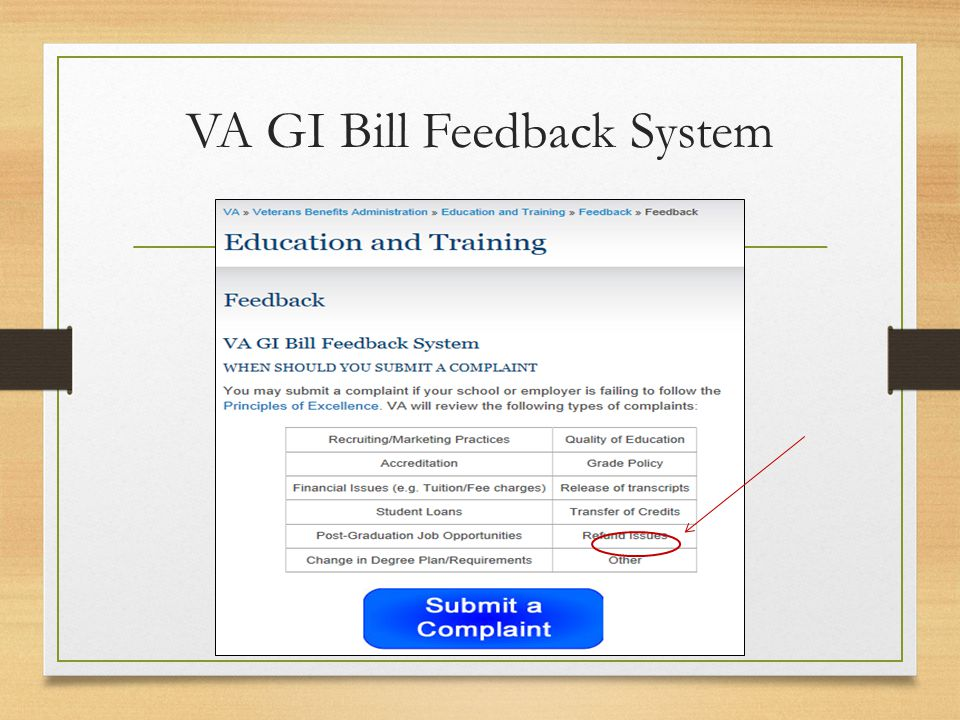 VA GI Bill Feedback System