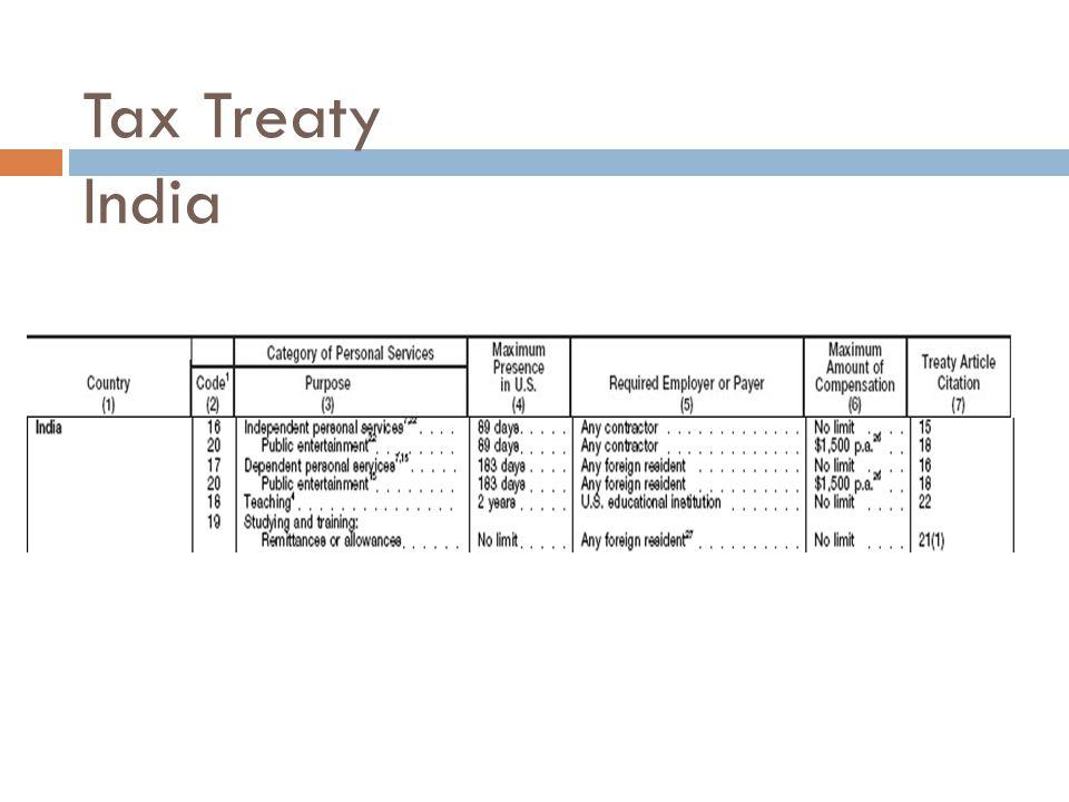 Tax Treaty India