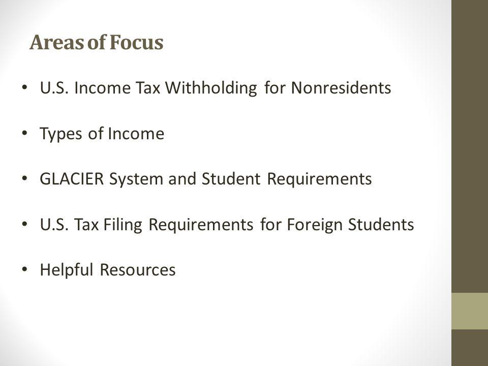 Areas of Focus U.S.