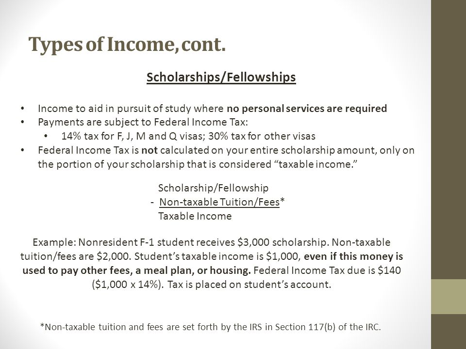 Types of Income, cont.