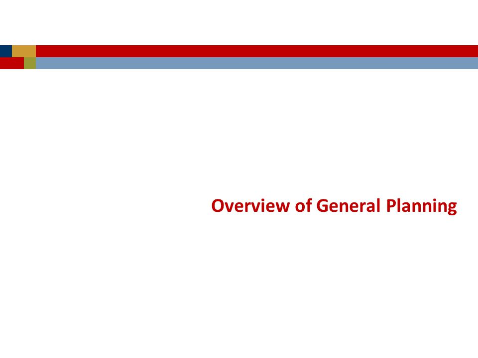 Overview of General Planning