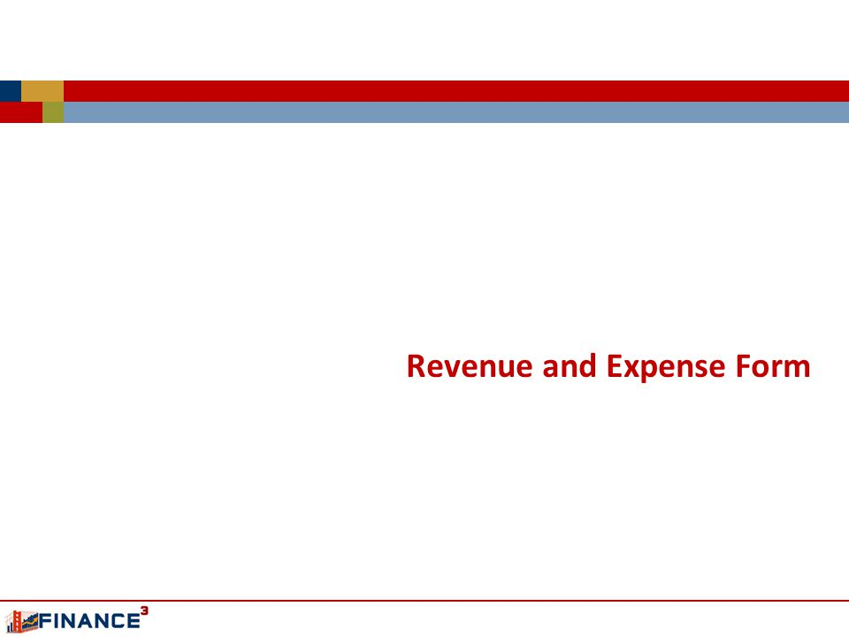 Revenue and Expense Form