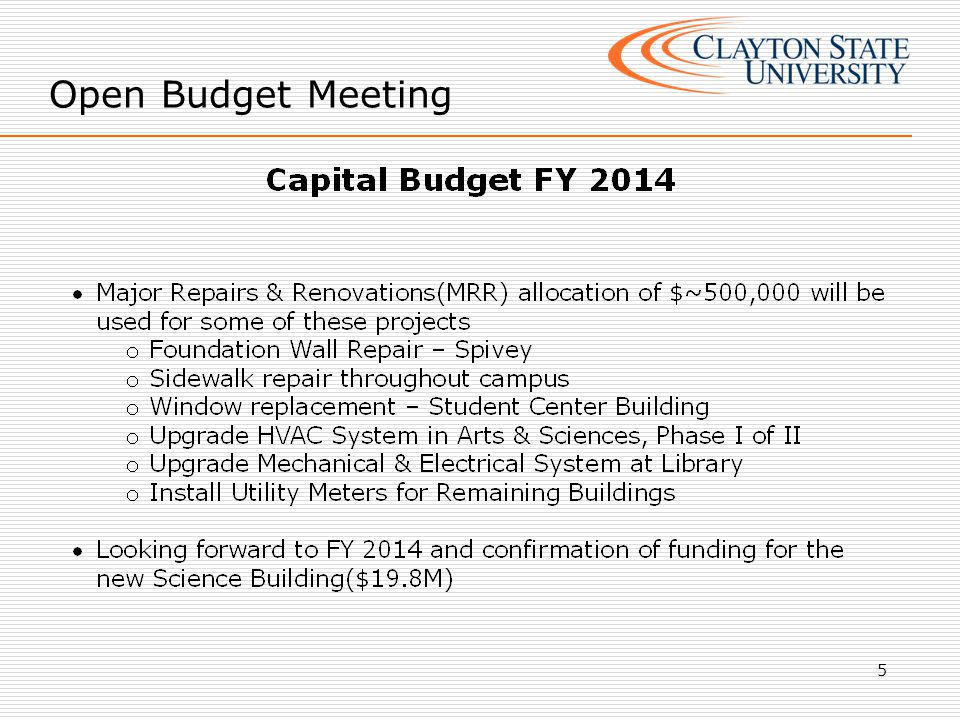 6 NOTE: 1 st quarter salary savings was utilized to purchase the items allocated
