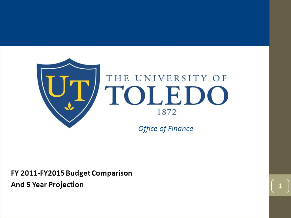 FY 2011-FY2015 Budget Comparison And 5 Year Projection 1 Office of Finance