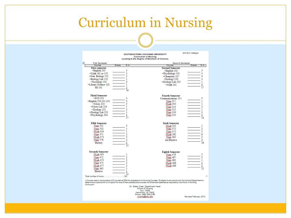 Curriculum in Nursing