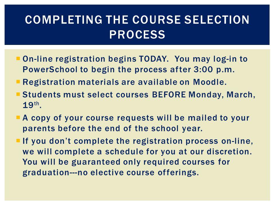  On-line registration begins TODAY.