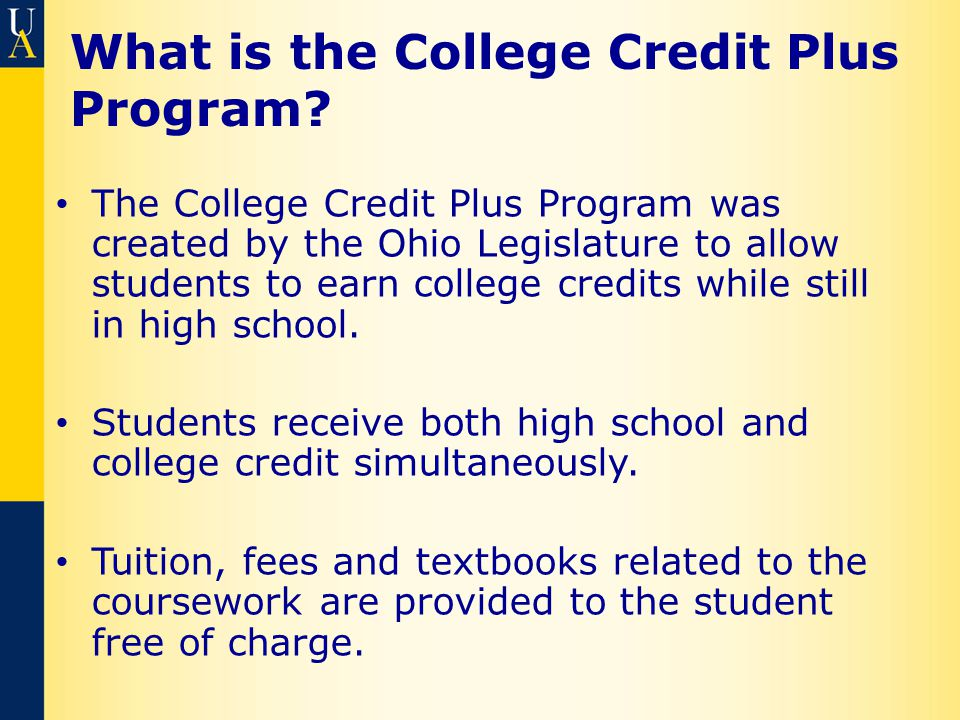 What is the College Credit Plus Program.