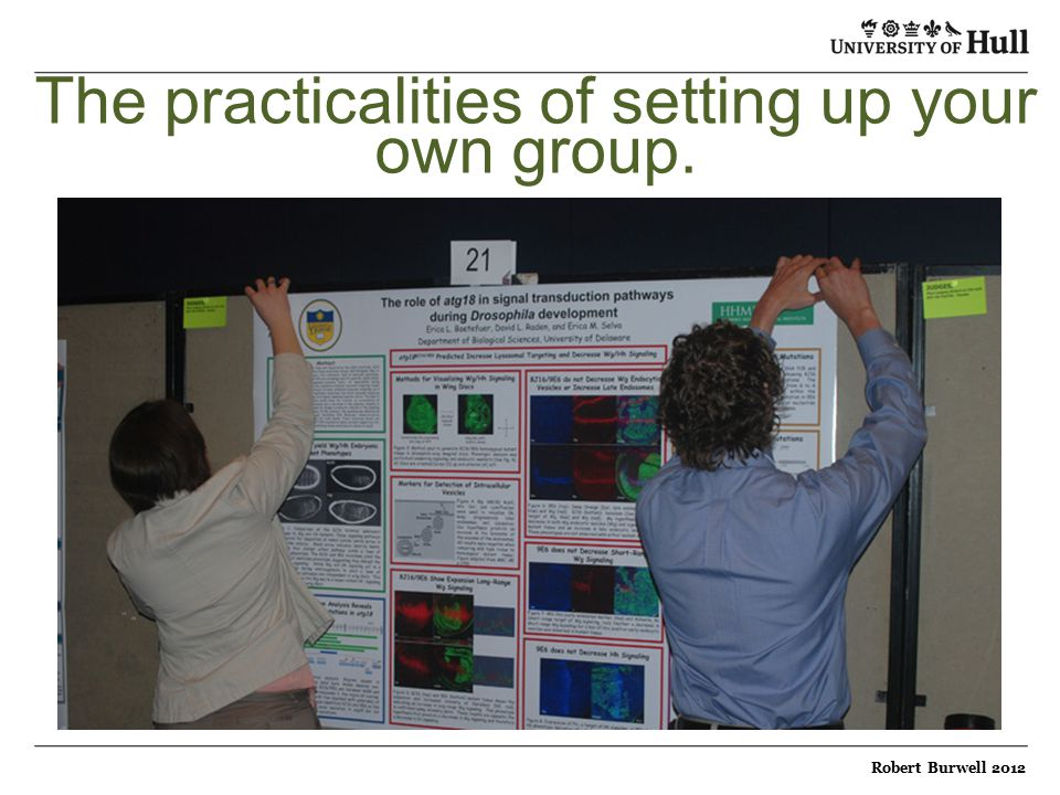 The practicalities of setting up your own group. Robert Burwell 2012