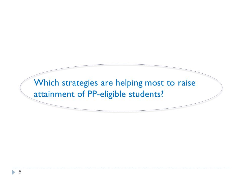 Which strategies are helping most to raise attainment of PP-eligible students 5
