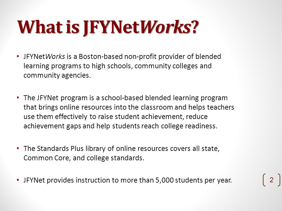 What is JFYNetWorks.