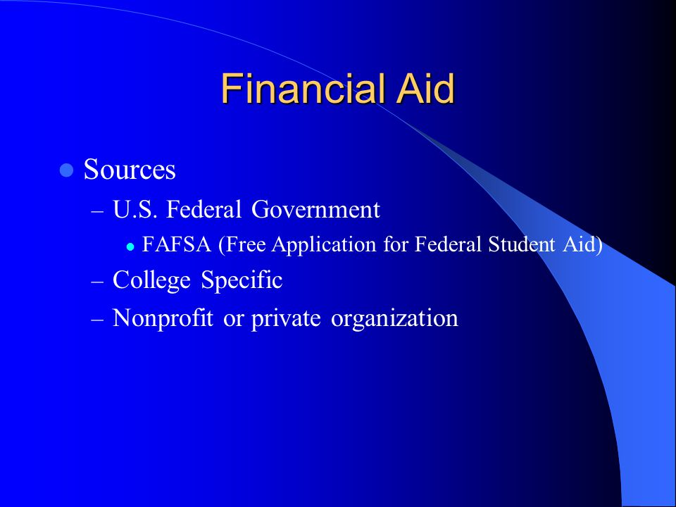 Financial Aid Sources – U.S.