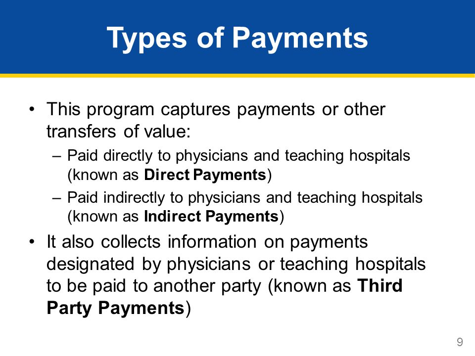 10 Continuing Medical Education Compensation for speaking at a continuing education program is not required to be reported, if all of the following conditions are met: 1.The program meets the accreditation or certification requirements and standards of the ACCME, AOA, AMA, AAFP or ADA CERP.