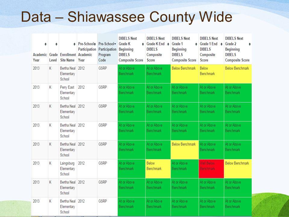 Data – Shiawassee County Wide