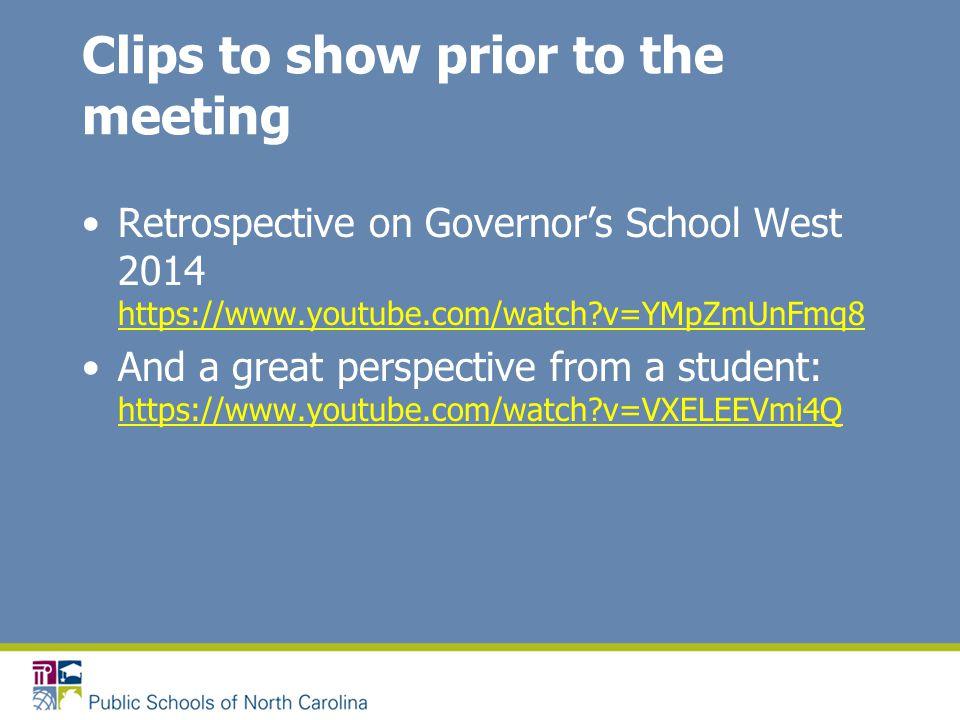 North Carolina Governor's School Selected Information for 2014-15 Tom Winton, Coordinator North Carolina Governor's School Exceptional Children Division