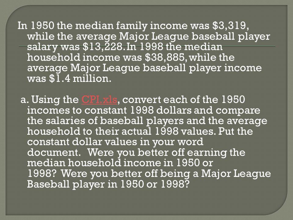 1950 Baseball in 1998 dollars 1950 Household in 1998 dollars 89,467.3922,448.01