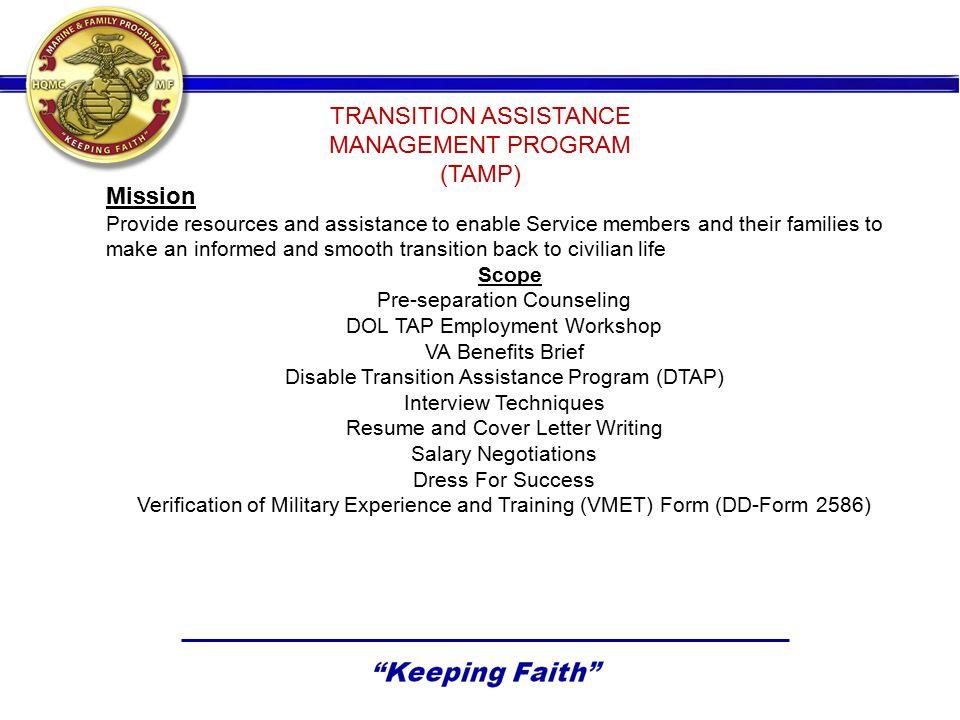 United Services Apprenticeship Program (USMAP) ParticipantsEnrollmentsCompletions October 2011 8,62653546 November 2011 8,45747746 December 2011 8,83050339 January 2012 9,01058237