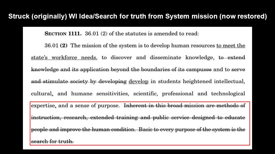 Struck (originally) WI Idea/Search for truth from System mission (now restored)
