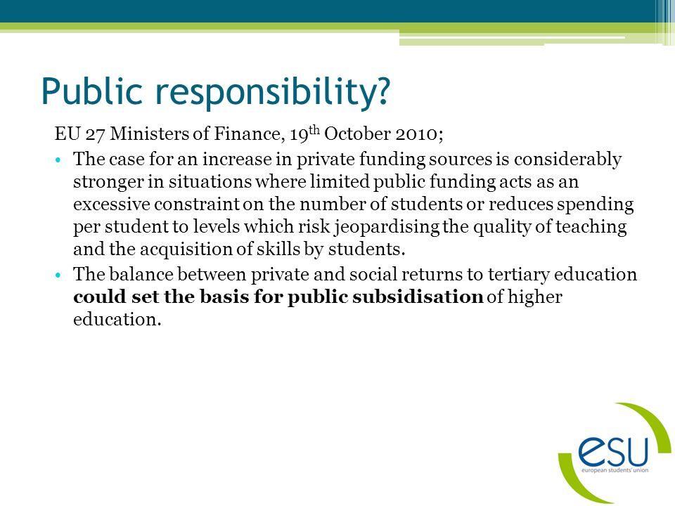 Public responsibility.