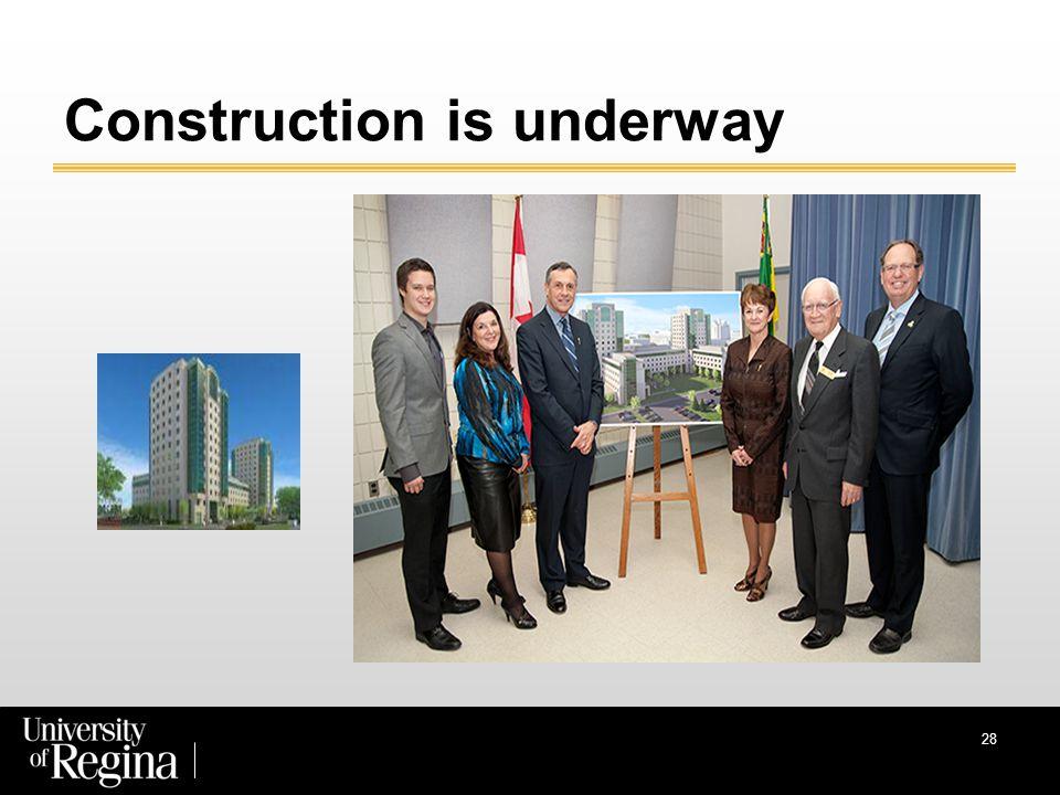 Construction is underway 28