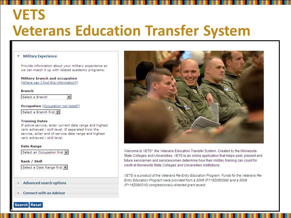 VETS Veterans Education Transfer System