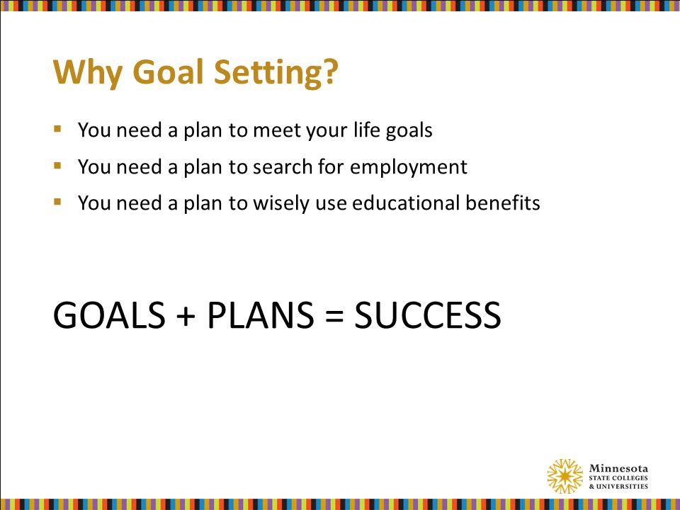 Why Goal Setting.