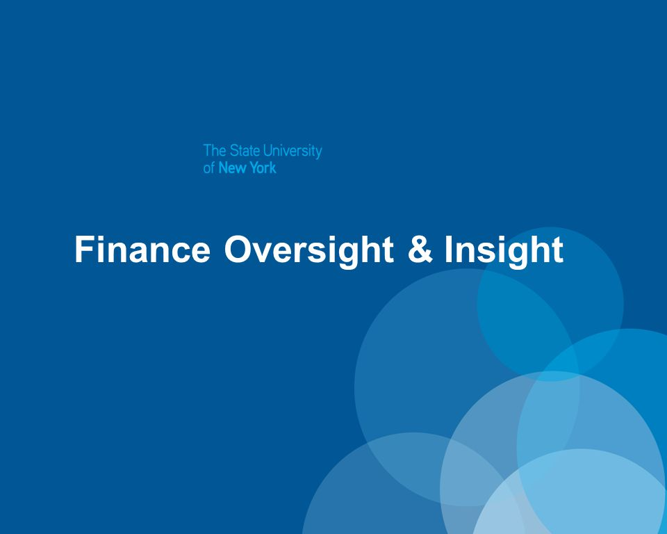 Finance Oversight & Insight
