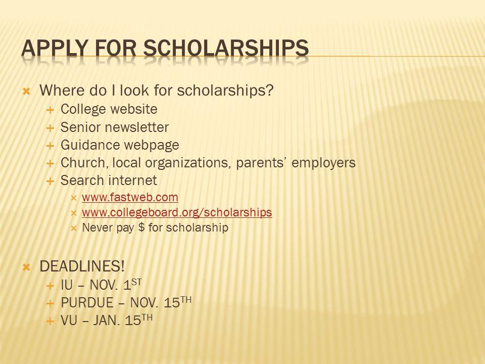  Where do I look for scholarships.